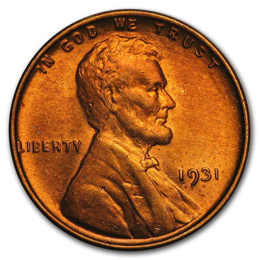 1931 Lincoln Cent BU (Red)