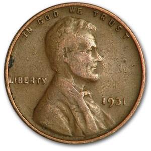 1931 Lincoln Cent Good/Fine