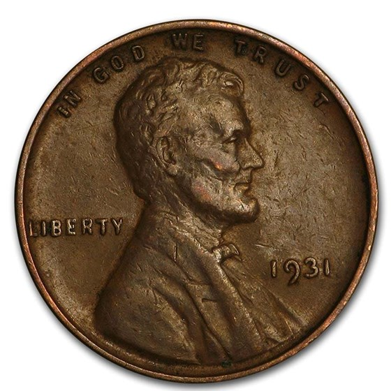 1931 Lincoln Cent VF