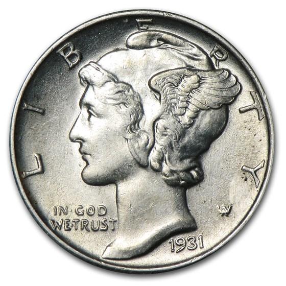 1931 Mercury Dime BU