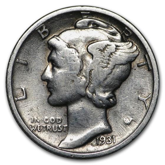 1931 Mercury Dime Good/Fine
