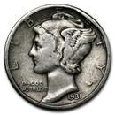 1931 Mercury Dime VF