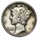 1931 Mercury Dime XF