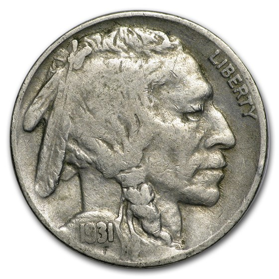 1931-S Buffalo Nickel VG