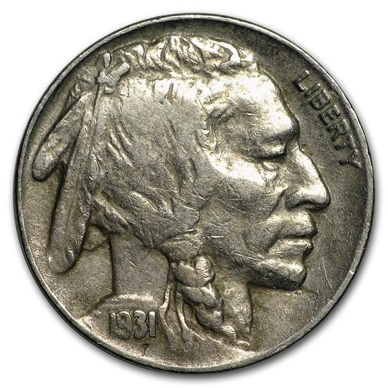 1931-S Buffalo Nickel XF