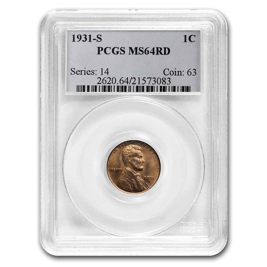 1931-S Lincoln Cent MS-64 PCGS (Red)