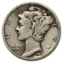 1931-S Mercury Dime Good/Fine