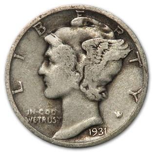 1931-S Mercury Dime Good/Fine