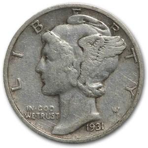 1931-S Mercury Dime VF