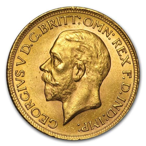 1931-SA South Africa Gold Sovereign George V BU (Small Head)