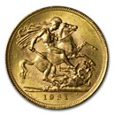 1931-SA South Africa Gold Sovereign George V BU