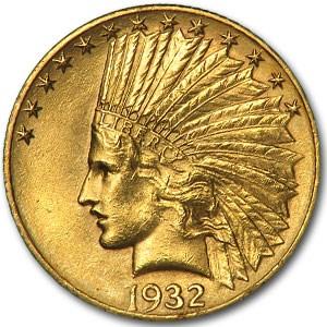 1932 $10 Indian Gold Eagle AU