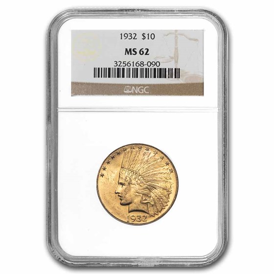 1932 $10 Indian Gold Eagle MS-62 NGC