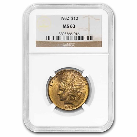 1932 $10 Indian Gold Eagle MS-63 NGC