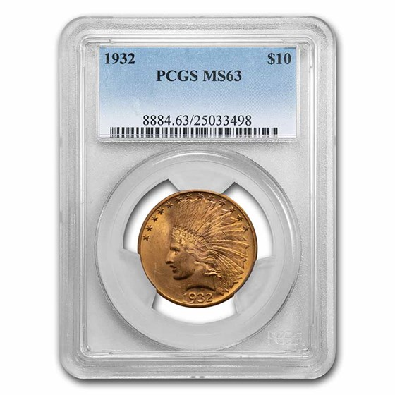 1932 $10 Indian Gold Eagle MS-63 PCGS