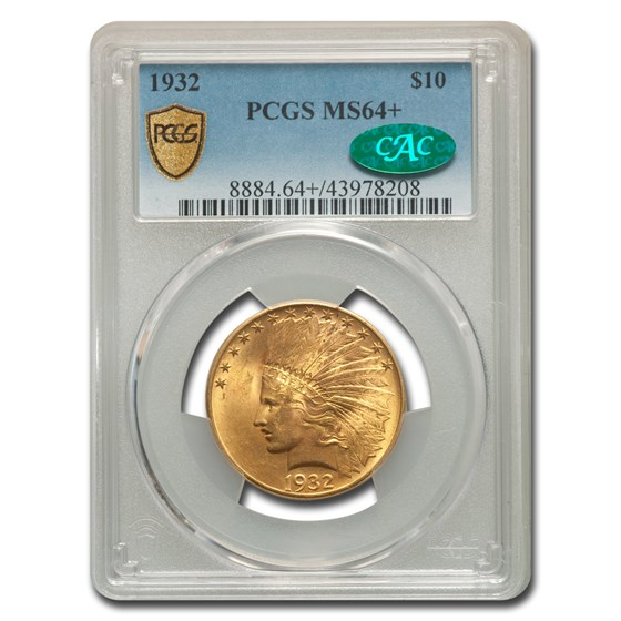 1932 $10 Indian Gold Eagle MS-64+ PCGS (CAC)