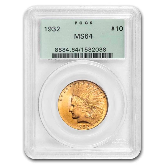 1932 $10 Indian Gold Eagle MS-64 PCGS