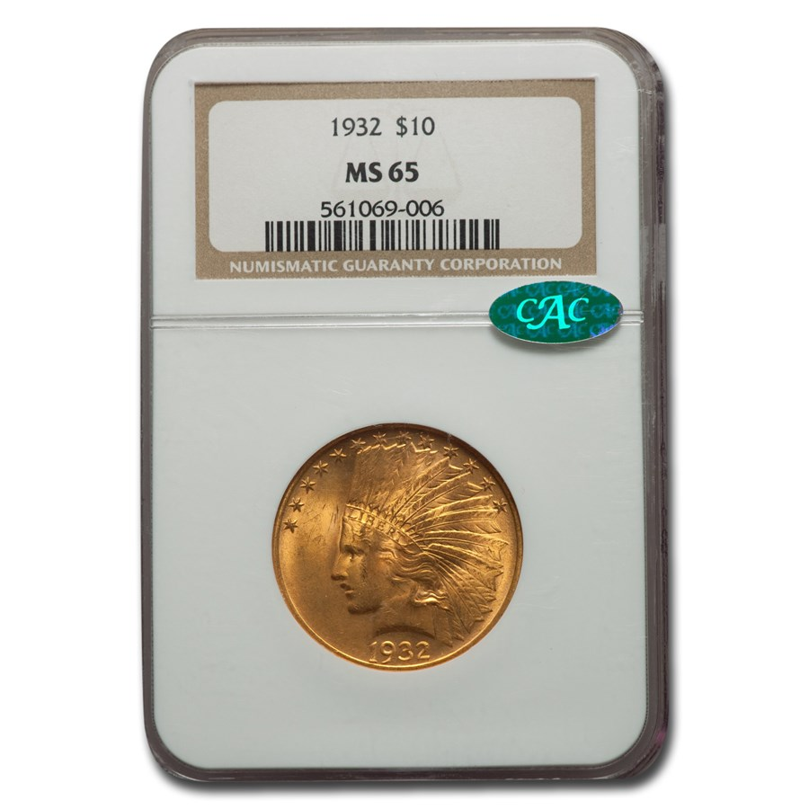 1932 $10 Indian Gold Eagle MS-65 NGC CAC