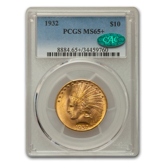1932 $10 Indian Gold Eagle MS-65+ PCGS CAC