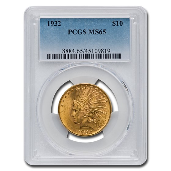 1932 $10 Indian Gold Eagle MS-65 PCGS