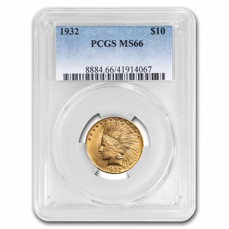 1932 $10 Indian Gold Eagle MS-66 PCGS