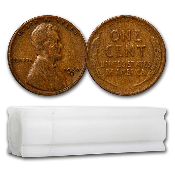 1932-D Lincoln Cent 50-Coin Roll VG/Fine