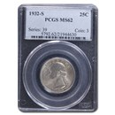 1932-S Washington Quarter MS-62 PCGS