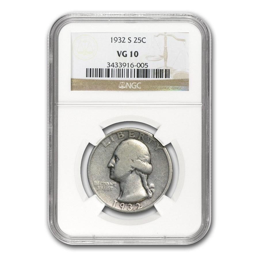 1932-S Washington Quarter VG-10 NGC