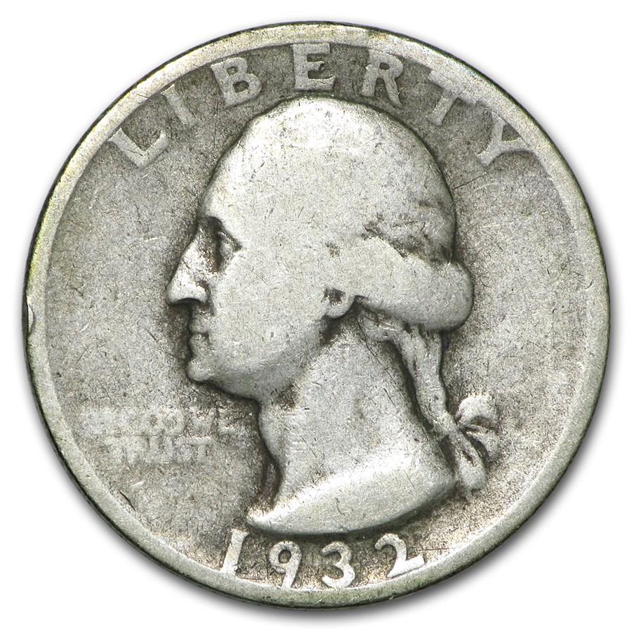 1932-S Washington Quarter VG