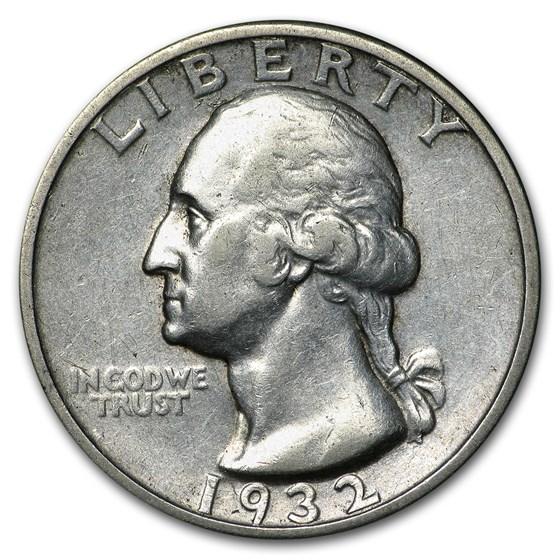 1932-S Washington Quarter XF