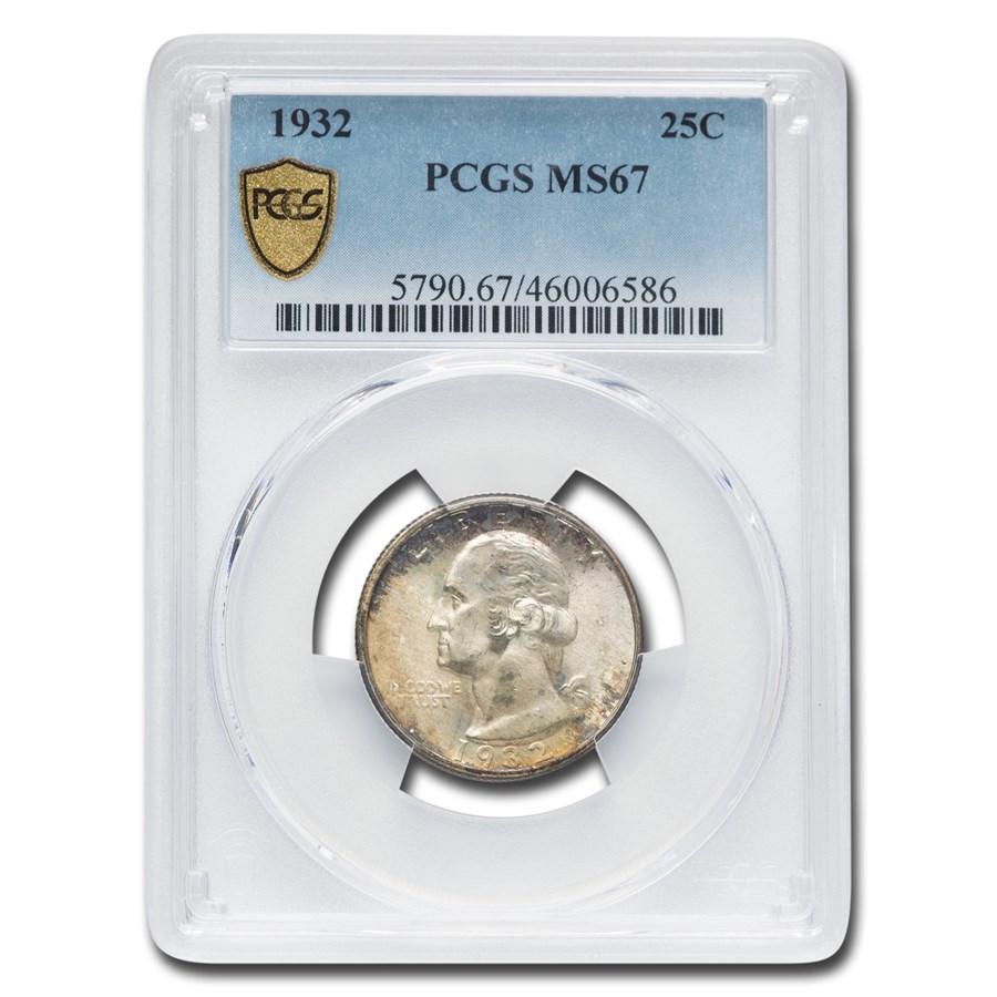 1932 Washington Quarter MS-67 PCGS