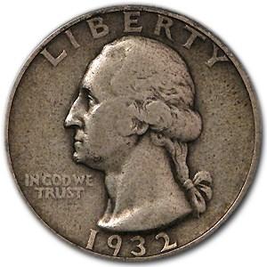 1932 Washington Quarter VF
