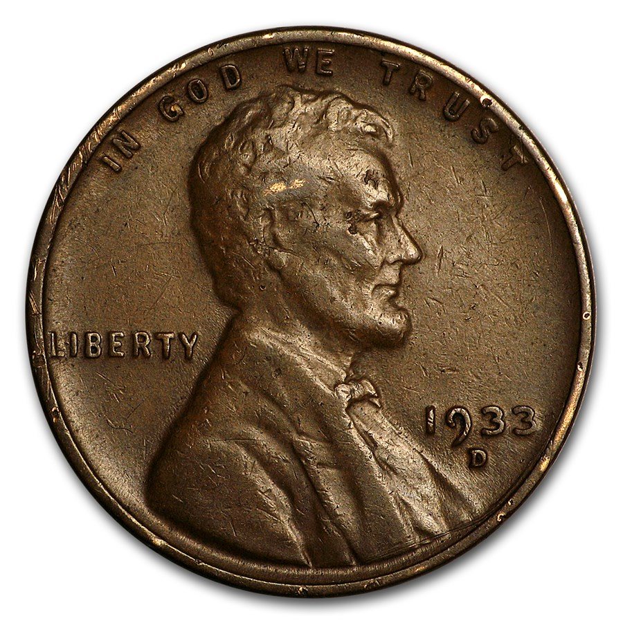 1933-D Lincoln Cent XF