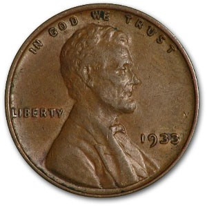 1933 Lincoln Cent XF