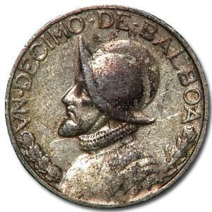 1933 Panama 1/10 Balboa XF