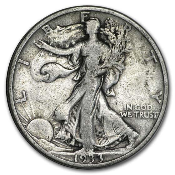 1933-S Walking Liberty Half Dollar VG
