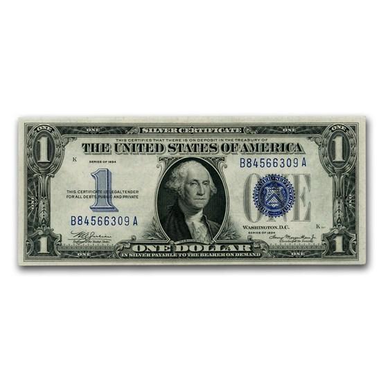 1934 $1.00 Silver Certificate CU (Fr#1606)