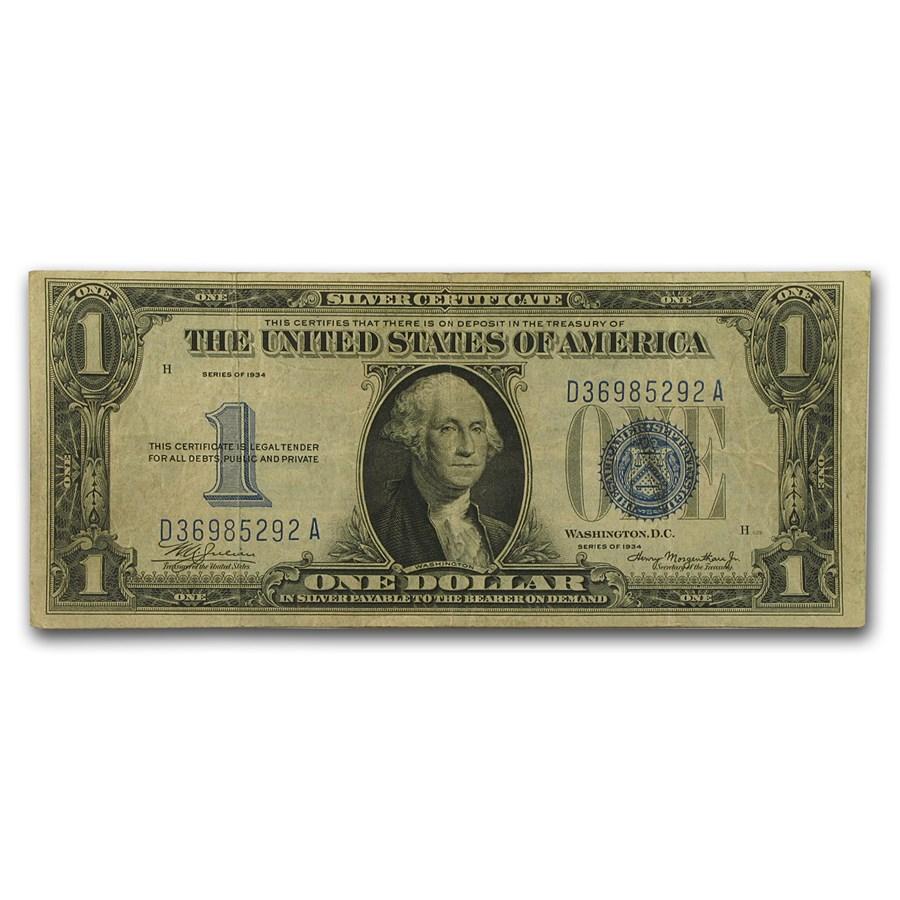 1934 $1.00 Silver Certificate VF