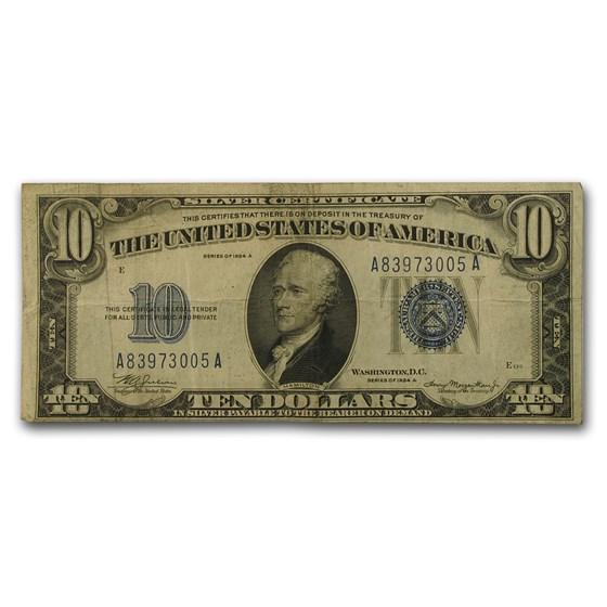1934/1934-D $10 Silver Certificate Fine (Random District)