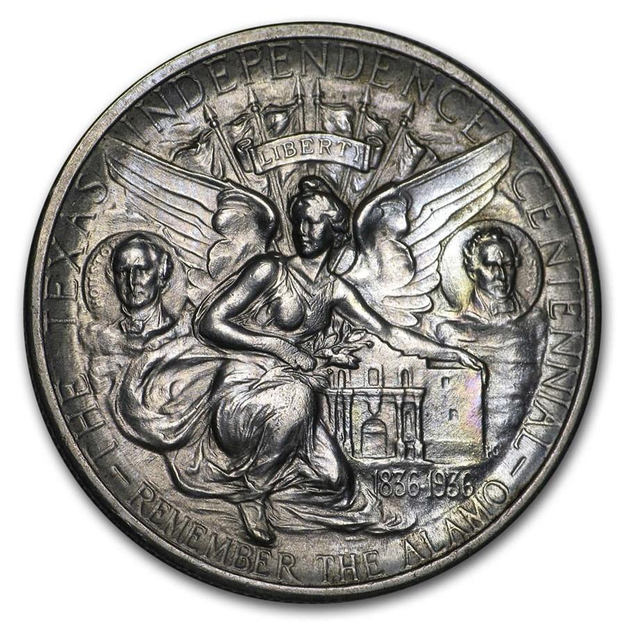 1934-1938 Texas Independence Centennial Half Dollar AU (Random)