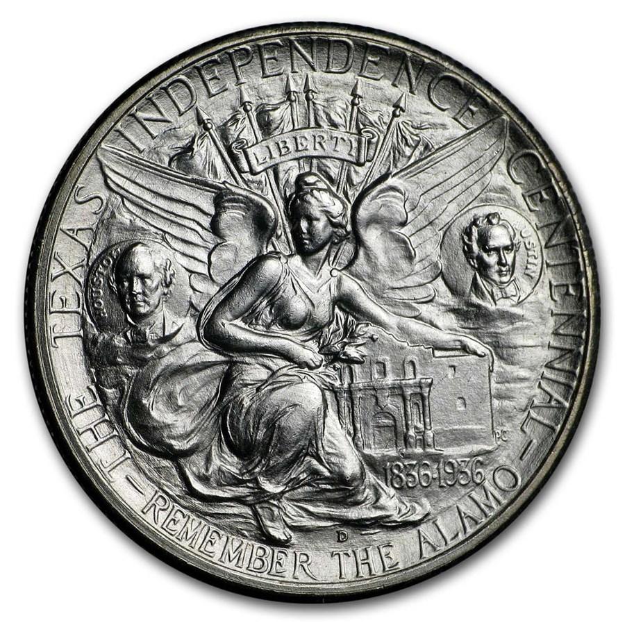 1934-1938 Texas Independence Centennial Half Dollar BU (Random)