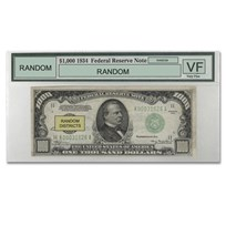 1934/34-A $1,000 FRN VF - (PMG/PCGS, Districts of Our Choice)
