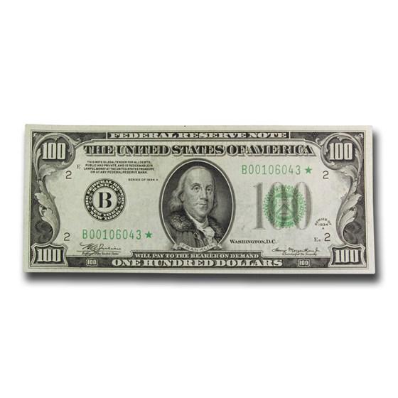1934-A* (B-New York) $100 FRN VF (Fr#2153-B*) Star Note