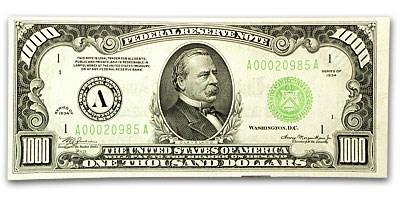 1934 (A-Boston) $1,000 FRN CU