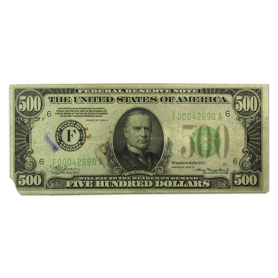 1934-A (F-Atlanta) $500 FRN Fine