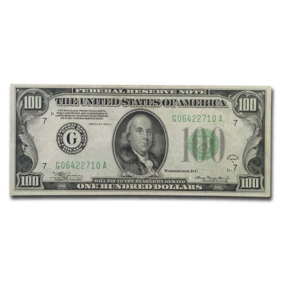 1934-A (G-Chicago) $100 FRN VF (Fr#2153-G)