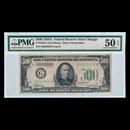 1934-A (G-Chicago) $500 FRN AU-50 EPQ PMG