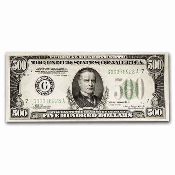 1934-A (G-Chicago) $500 FRN XF (Fr#2202-G)