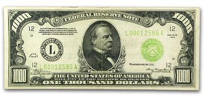 1934-A (L-San Francisco) $1,000 FRN XF (LGS)
