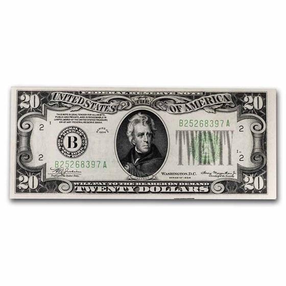 1934 (B-New York) $20 FRN CU (Fr#2054-B)